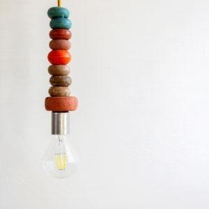 Lámpara de techo de boyas recuperadas