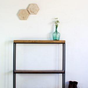 Consola industrial madera recuperada